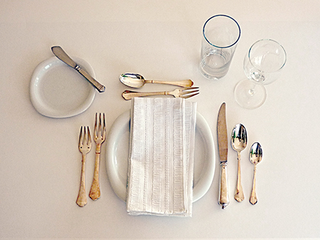 a place setting & COTW - Make the Right Impression - Table Manners